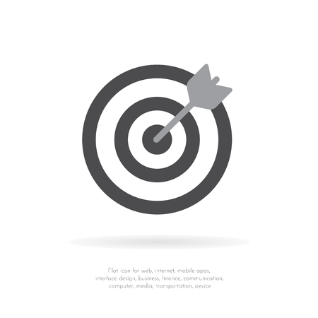 Darts target aim icon. Flat pictogram. For business, marketing, internet concept. Vector Illustration.