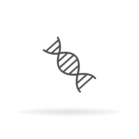 Deoxyribonucleic acid icon. For web, business, finance and communication. Vector Illustration. Illustration