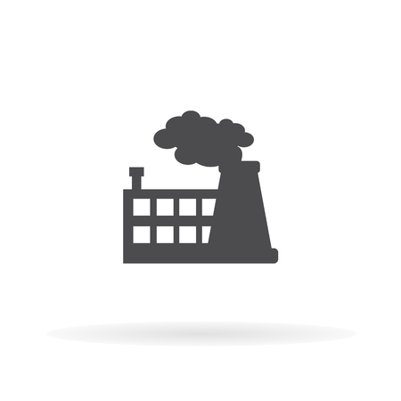 Factory icon. For web, business, finance and communication. Vector Illustration. Illustration