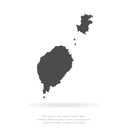 Vector map Sao Tome and Principe. Isolated vector Illustration. Black on White background. EPS 10 Illustration.