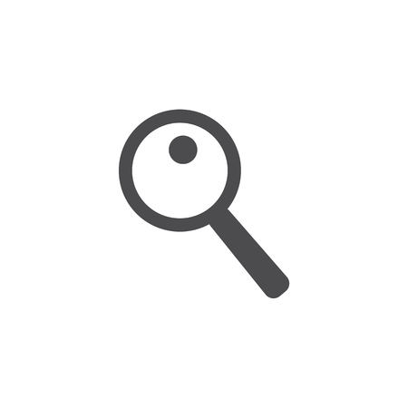 Magnifier icon. For web, business, finance and communication. Vector Illustration. Stok Fotoğraf - 110443219