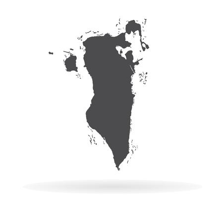 Vector map Bahrain. Isolated vector Illustration. Black on White background. EPS 10 Illustration.