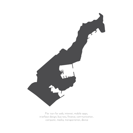 Vector map Monaco. Isolated vector Illustration. Black on White background. EPS 10 Illustration.