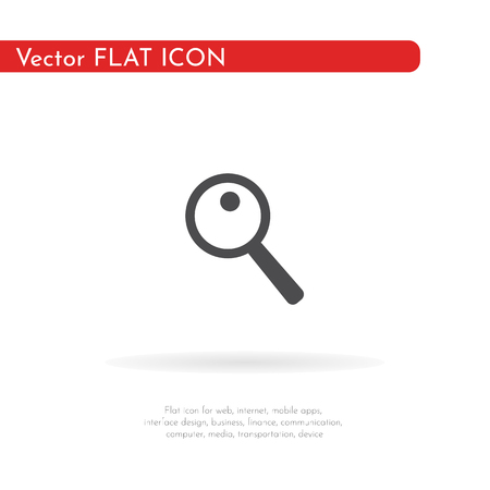 Magnifier icon. For web, business, finance and communication. Vector Illustration.