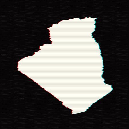 Vector map Algeria. Isolated vector Illustration. Black on White background. EPS 10 Illustration.