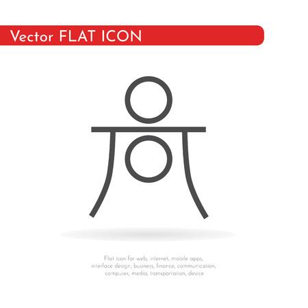 Astrology symbol Haumea. Vector Illustration.