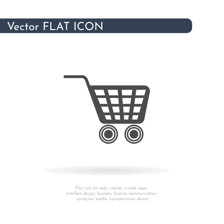 Grocery trolley icon. For web, business, finance and communication. Vector Illustration.