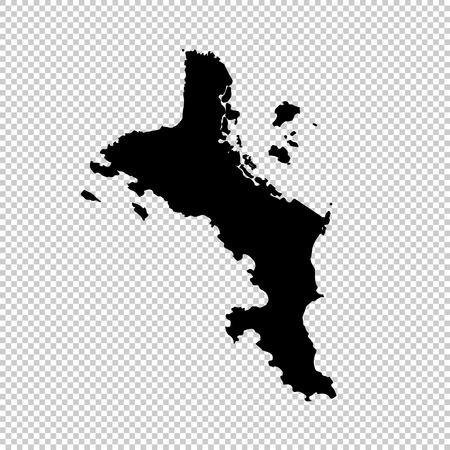 Vector map Seychelles. Isolated vector Illustration. Black on White background. EPS 10 Illustration. Illustration