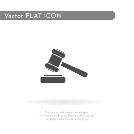 Hammer icon. For web, business, finance and communication. Vector Illustration. Banco de Imagens - 107869962