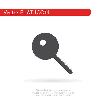 SIM card eject tool. Card tray. Flat design style. Vector Illustration.
