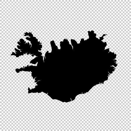 Vector map Iceland. Isolated vector Illustration. Black on White background. Illustration