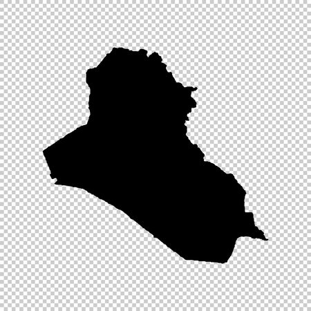 Carte vectorielle de l'Irak. Illustration vectorielle isolé. Noir sur fond blanc. Illustration EPS 10. Vecteurs