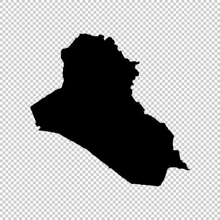 Vector map Iraq. Isolated vector Illustration. Black on White background. EPS 10 Illustration. Vector Illustratie