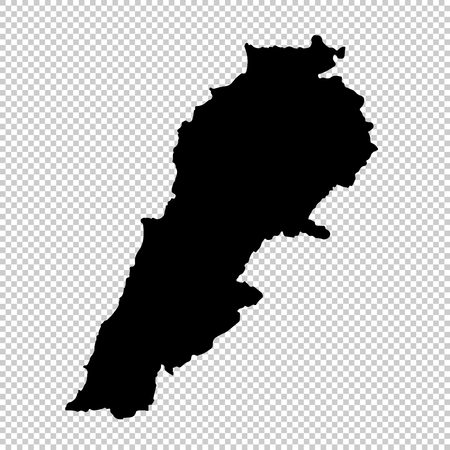 Carte vectorielle Liban. Illustration vectorielle isolé. Noir sur fond blanc.