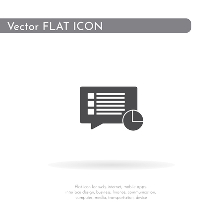 Document loading icon. For web, business, finance and communication. Vector Illustration.