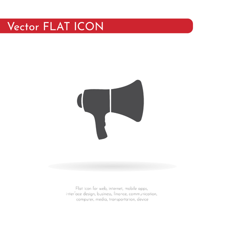 Speaker icon. For web, business, finance and communication. Vector Illustration. Ilustrace