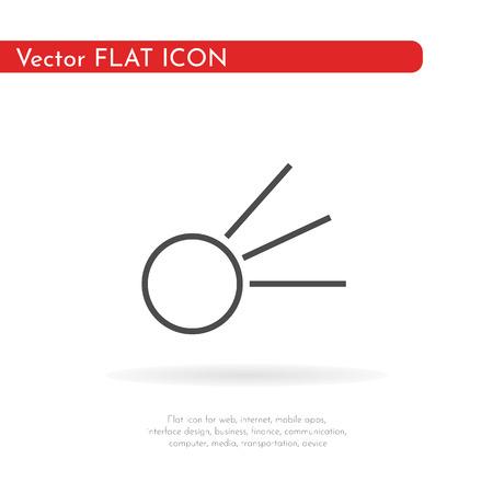 Comet icon. Vector Illustration.