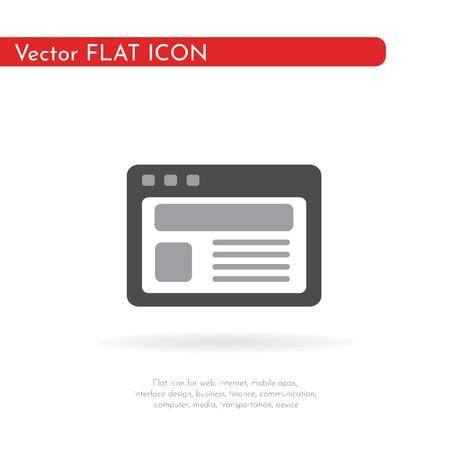 Documents, blank icon. Flat design. Vector Illustration.