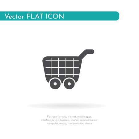 Food cart icon. For web, business, finance and communication. Vector Illustration.