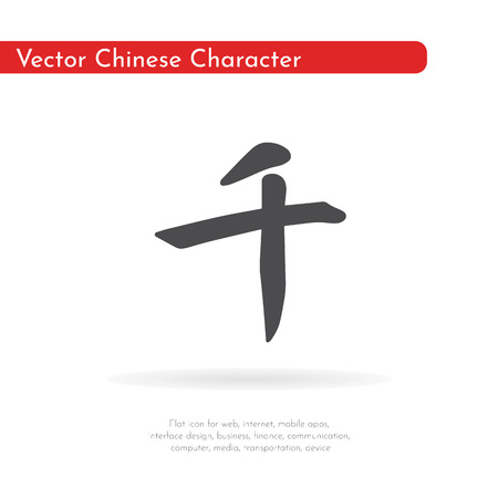 Chinese character thousand.