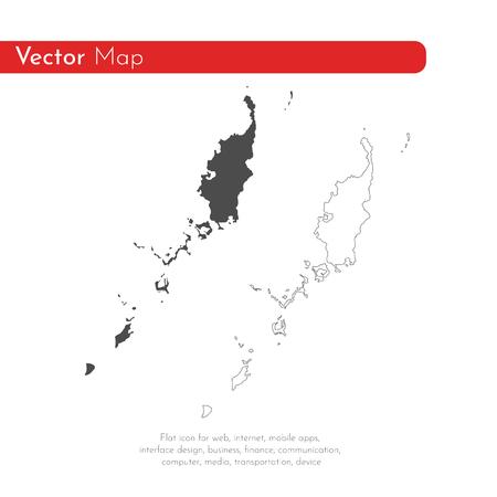 Vector map Palau. Isolated vector Illustration. Black on White background. EPS 10 Illustration. Illustration
