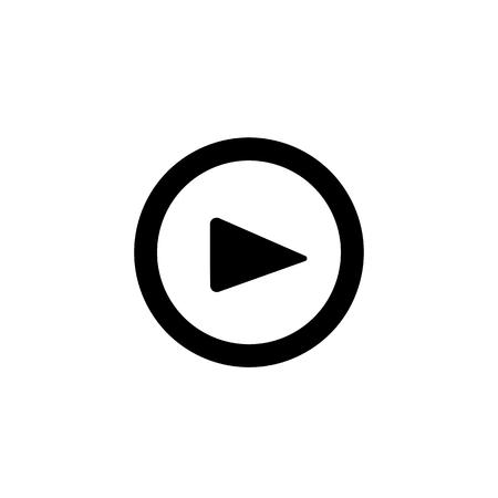Play button icon. Ilustração