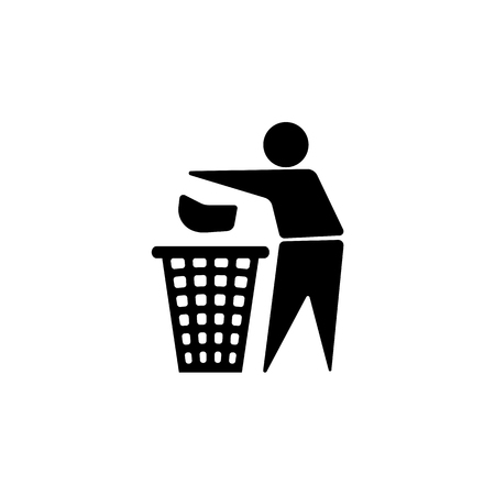Throw to paper bin icon.
