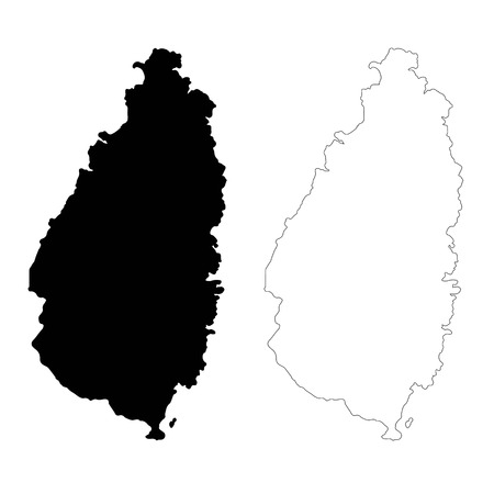 Vector map Saint Lucia. Isolated vector Illustration. Black on White background. EPS 10 Illustration.