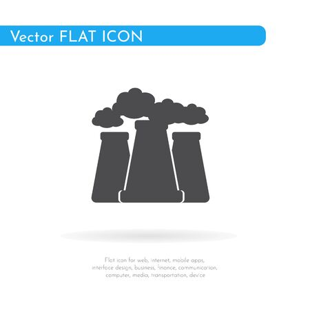 Factory icon. For web, business, finance and communication. Vector Illustration. Фото со стока