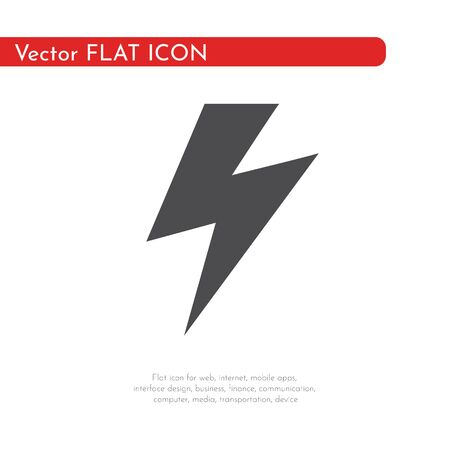 Flat icon lightning. For web, business, finance and communication. Vector Illustration. 写真素材