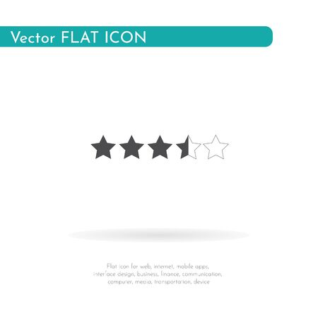 5 star icon. For web, business, finance and communication. Vector Illustration.