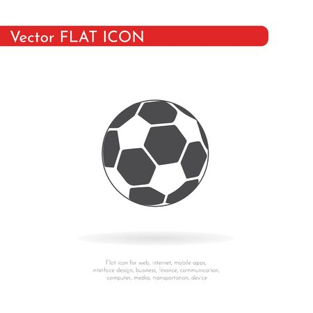 Soccer ball icon. For web, business, finance and communication. Vector Illustration.