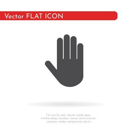 Stop hand icon. For web, business, finance and communication. Vector Illustration. Reklamní fotografie
