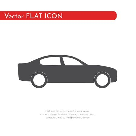 Flat icon car. For web, business, finance and communication. Vector Illustration.