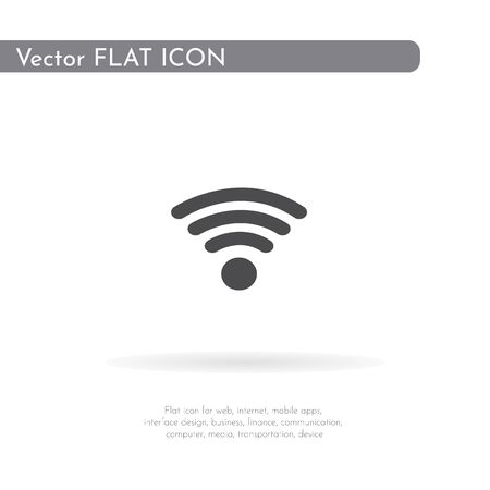 Wifi icon. For web, business, finance and communication. Vector Illustration.