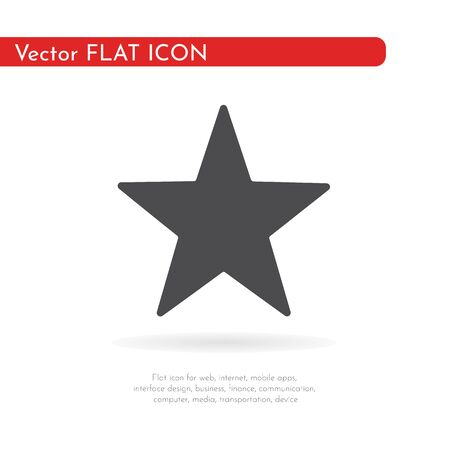 Flat icon star. For web, business, finance and communication. Vector Illustration.