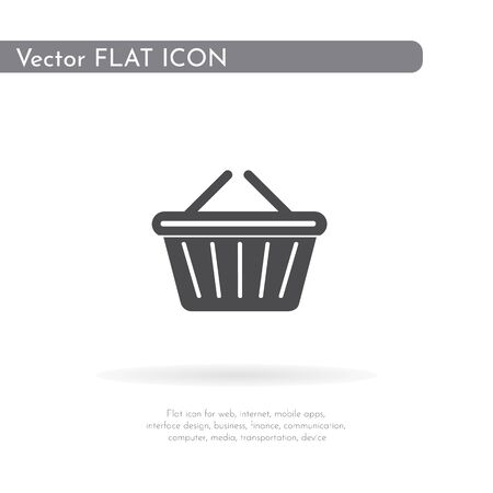 Basket icon. For web, business, finance and communication. Vector Illustration.