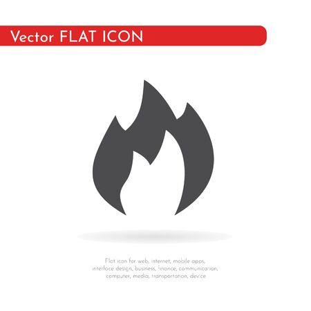 Flat icon fire. For web, business, finance and communication. Vector Illustration.