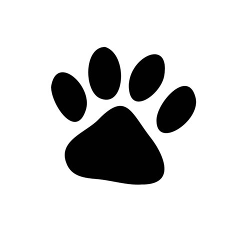 Paw Prints. Logo. Vector Illustration. Isolated vector Illustration. Black on White background. Standard-Bild - 129972607
