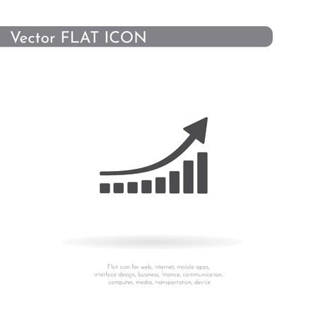 Graph icon. For web, business, finance and communication. Vector Illustration.