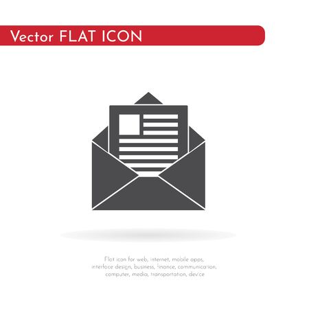 Letter icon. For web, business, finance and communication. Vector Illustration.