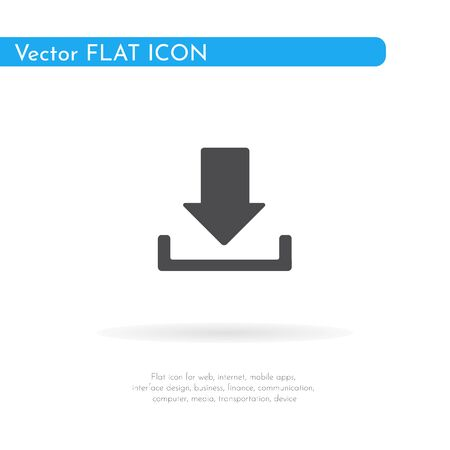 Download icon. For web, business, finance and communication. Vector Illustration.