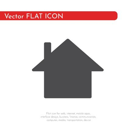 Flat icon house. For web, business, finance and communication. Vector Illustration. 写真素材