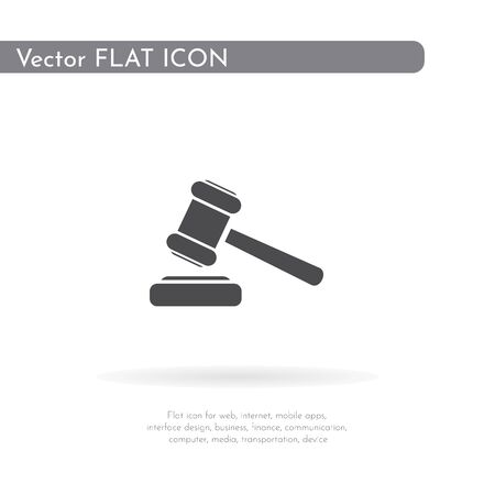 Hammer icon. For web, business, finance and communication. Vector Illustration.