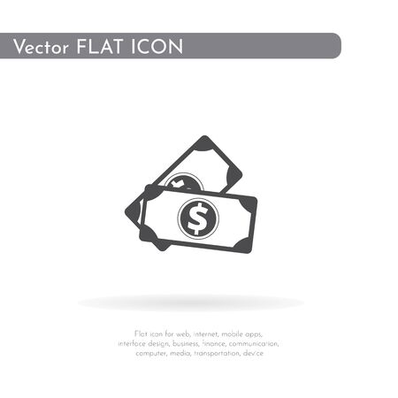 Money icon. For web, business, finance and communication. Vector Illustration.