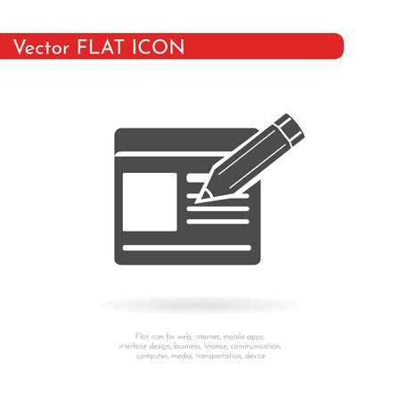 Sign up icon. For web, business, finance and communication. Vector Illustration. 스톡 콘텐츠 - 129973127