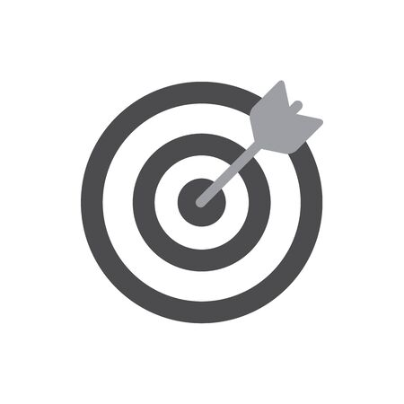 Darts target aim icon. Flat pictogram. For business, marketing, internet concept. Vector Illustration.