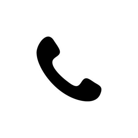 Telephone symbol button icon.