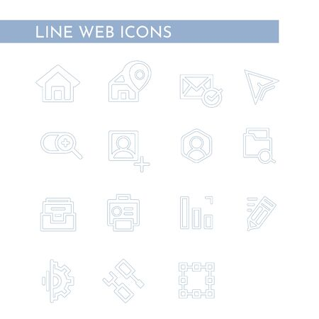 Media Web Icons. For business, finance and communication. Vector illustration.