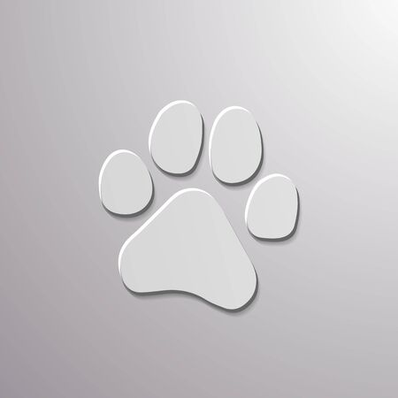 Paw Prints. Logo. Vector Illustration. Isolated vector Illustration. Banco de Imagens